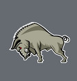 huge wild boar cartoon style vector image