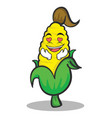 in love sweet corn character cartoon vector image vector image