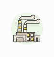industrial building colorful icon vector image
