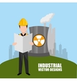 industrial plant design vector image vector image