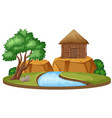 isolated house in nature vector image
