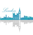 Isolated London skyline vector image vector image