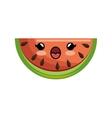 kawaii watermelon healthy juicy vector image vector image