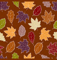 leaves seamless fall 4 vector image vector image