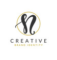 letter n logo design template vector image vector image