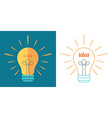 Light bulb as idea inspiration concept vector image