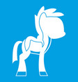 little pony icon white