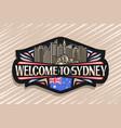 logo for sydney vector image vector image