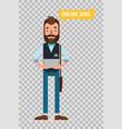 man looking for job online serviceflat character vector image vector image