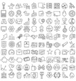 Miscellaneous thin line icons set vector image vector image