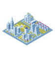 modern city buildings police station road vector image vector image