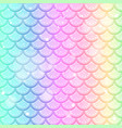 pastel rainbow fish scales seamless pattern vector image