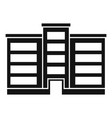 pension building icon simple style vector image vector image