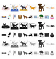 pet cartoon icons in set collection for design vector image