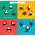Physical activity flat set vector image vector image