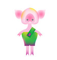 piggy in vibrant gradient modern style vector image
