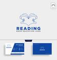 reading book magazine education simple logo vector image vector image