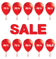 Red balloons with sale Red balloons with sale vector image