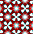 Red festive christmas star seamless pattern vector image vector image