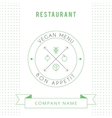 Restaurant Vegetarian Menu card design template vector image