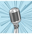 Retro style microphone pop art vector image vector image