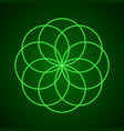 sacred geometry symbol of harmony vector image