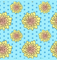 seamless floral pattern with yellow aster flowers vector image vector image