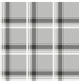 Seamless light tartan pattern fabric Black and vector image