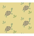 Seamless pattern with funny turtles vector image