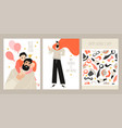 set fathers day greeting card templates vector image vector image