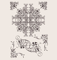 Set of ornate design elements vector | Price: 1 Credit (USD $1)