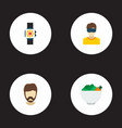 set of trend icons flat style symbols with vr vector image