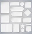 Set of White Paper Sheets Mock Ups and Banners vector image vector image