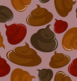 Shit seamless pattern Brown background vector image vector image