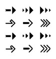 simple arrow flat set vector image vector image