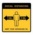 social distancing banner keep 1 meter vector image