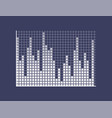 sound bars composed squares on coordinates vector image