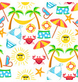 summer holidays tropical flora and fauna with vector image