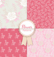 Vintage Floral Seamless Patterns Collection vector image vector image