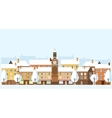 Winter Cityscape Old Town vector image vector image