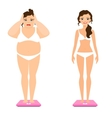 Women weight loss vector image