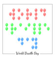 world braille day social event concept for blind vector image vector image
