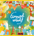 world famous signts silhouettes around the world vector image vector image
