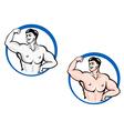powerful bodybuilder vector image