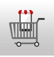 online shopping cart design vector image