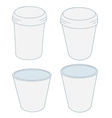 paper cups in the projector on a white background vector image