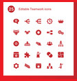 25 teamwork icons vector image vector image
