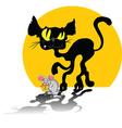 abstract cartoon cat vector image vector image