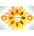 Abstract Retro Floral Background vector image