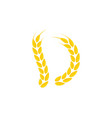 agriculture wheat logo template icon design vector image vector image